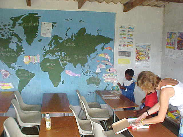Philipa is currently the only teacher at the local school in Mpande.
