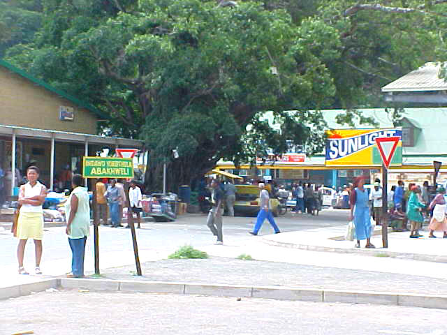 And next to a taxi stop, this was also the main commercial centre of Port St. Johns.