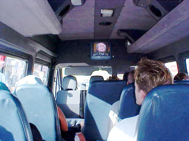 In a way it was strange to be watching A Time To Kill on the BazBus television, while driving through the rural Transkei.