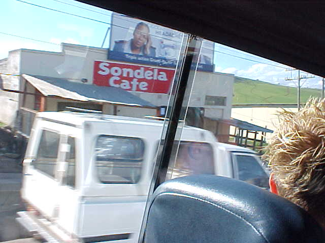 As we drove through Umtata itself, heading up north.