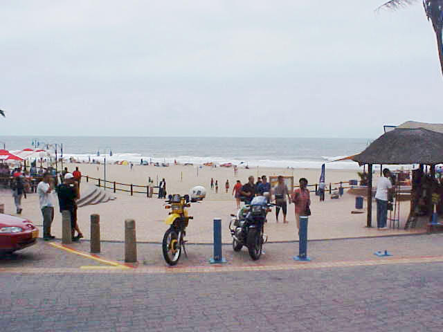 The Margate beach in Margate. It was cloudy this morning, but man! did I get sunburned anyway!