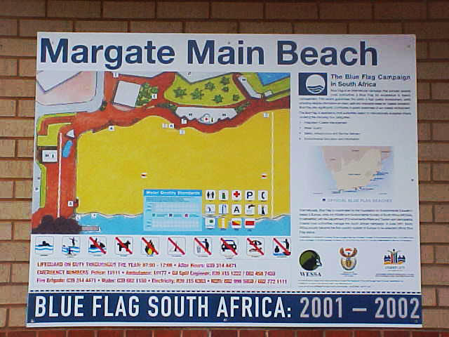 And from today on, Margate would be the ONLY BEACH in South Africa and the ONLY BEACH outside of Europe to be awarded with the BLUE FLAG.