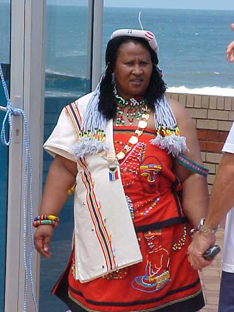 The Xhosa major of Margate gave a speech for the people who attended the ceremony.