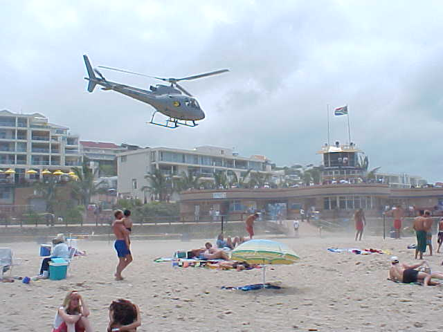 And before the helicopter would leave again, it would drop one life guard in the water with the Blue Flag in his hands.