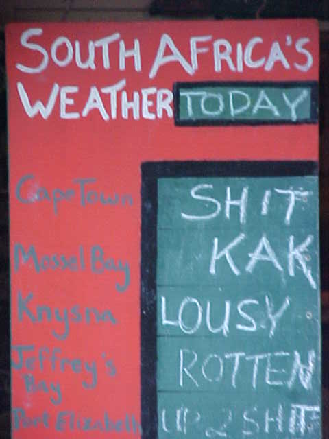 However their weather forecast may be a bit dodgy.