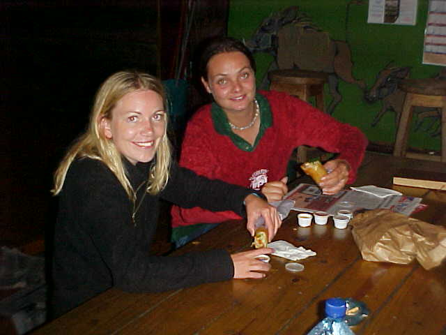 Around 10pm the Bazbus arrived, dropping off the Danish blonde Britt and Australian backpacker Lauren.