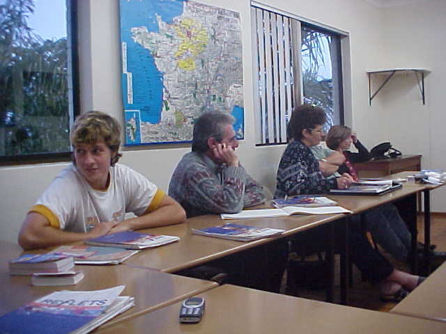 And it was interesting to see how people of different ages practice their French language skills.