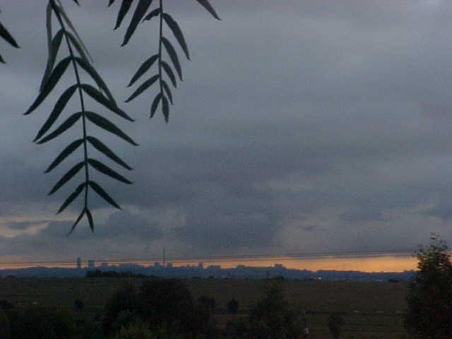 Johannesburg skyline around 6pm.