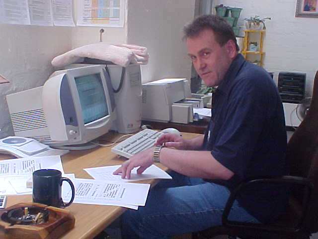 Saturday afternoon, Gerhard sitting behind his office desk. This time for leisure only, configuring out the numbers he was going to use for the national lottery.
