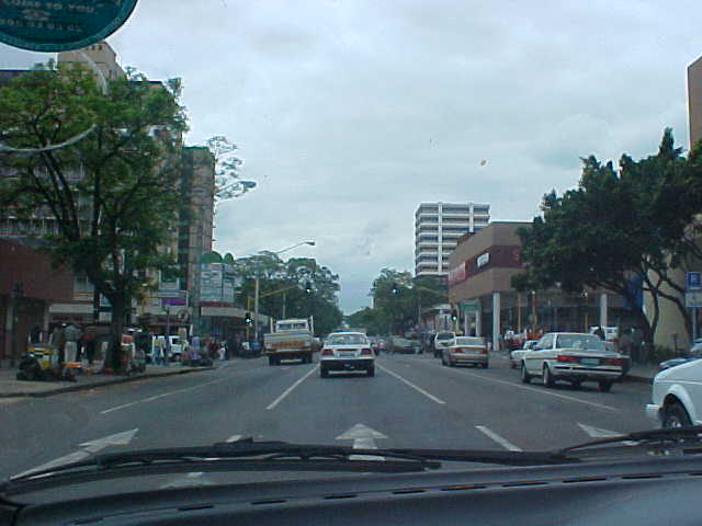 Entering Pretoria city by car.