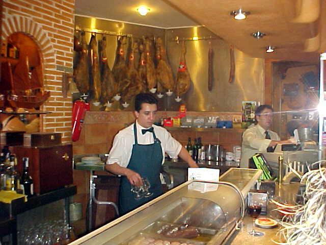 At the tapas restaurant Green.