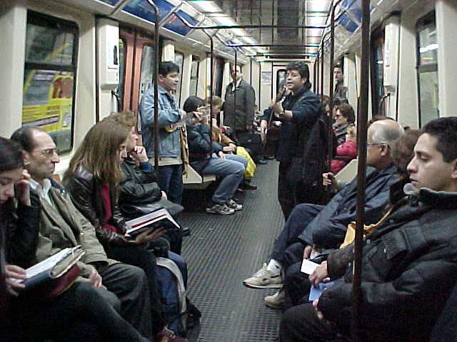 Making hearts warm, guitar players in the metro. Unfortunately they disappeared after two stations.