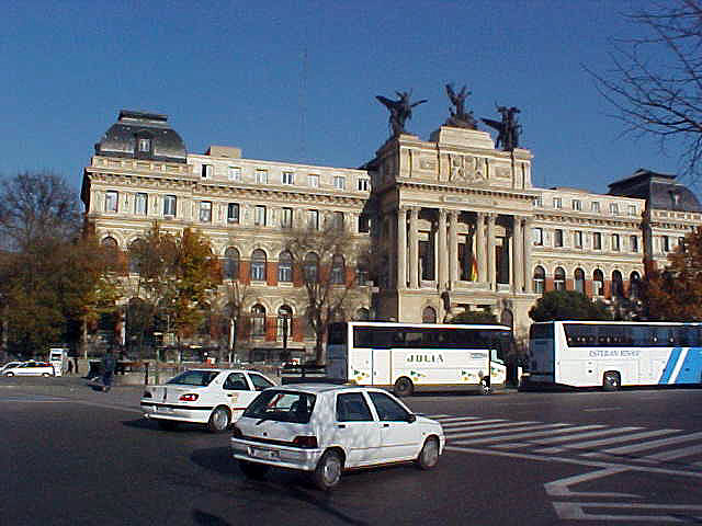 The Ministery of Agriculture in Madrid. Wow! Culture! We should put more angelic objects on top of buildings!