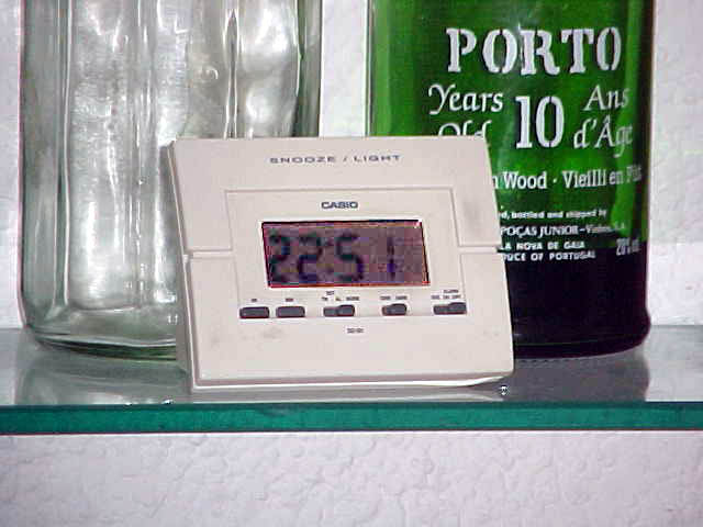 22.16 on the digital clock in the kitchen. And we were about to start dinner.
