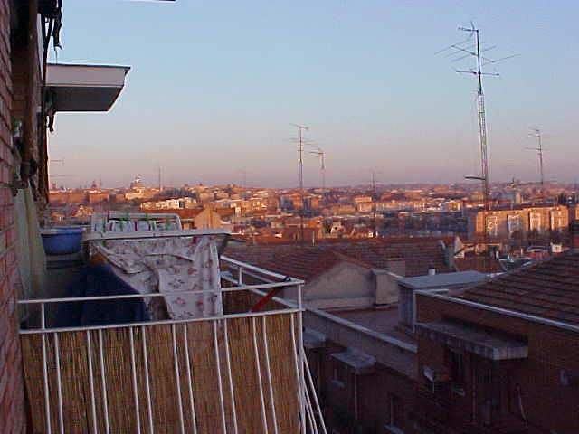 At their apartment in the west of Madrid, I was amazed by the panoramic view I was offered in my guest room.