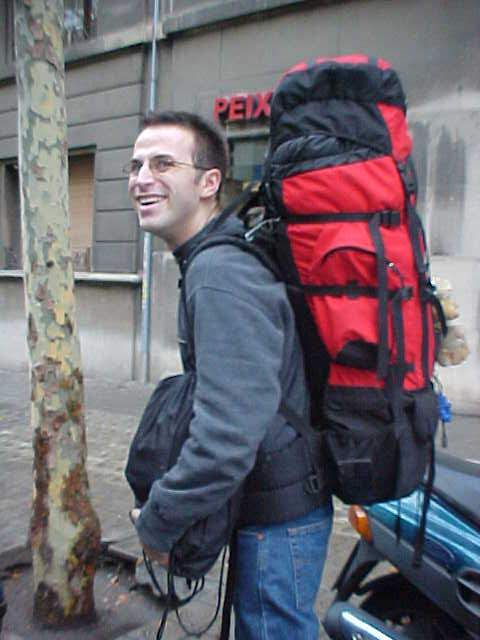 But in return, when we arrived, Pablo offered to carry my HEAVY backpack up to his and parents apartment.