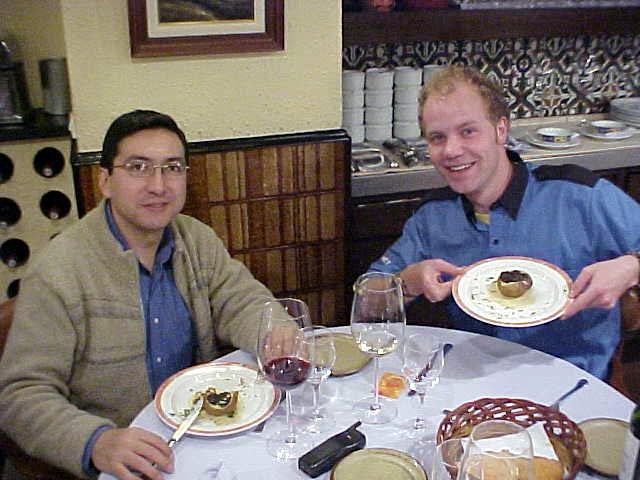 Harrys former colleague Luis joined us for dinner.
