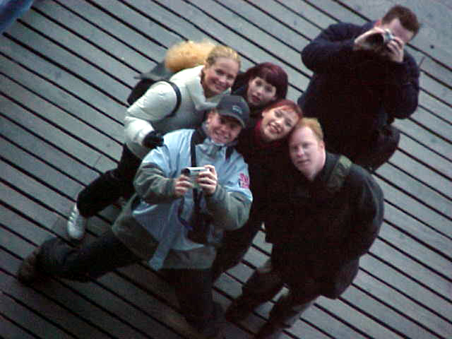 Groupshot made with my camera in the reflection of the mirror of the Miramagnum leisure complex.