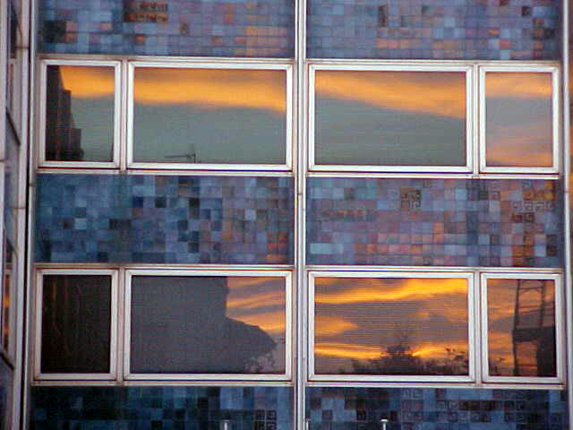 And there was the sunset again, this time reflected in the windows of a building.