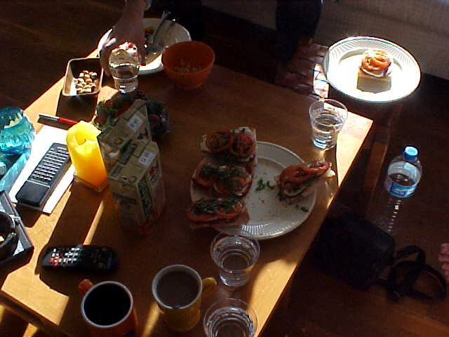 Breakfast with long shadows, but always healty!
