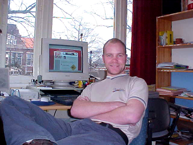 Me, myself and I in my room at home in Zwolle, The Netherlands. Ready to go!