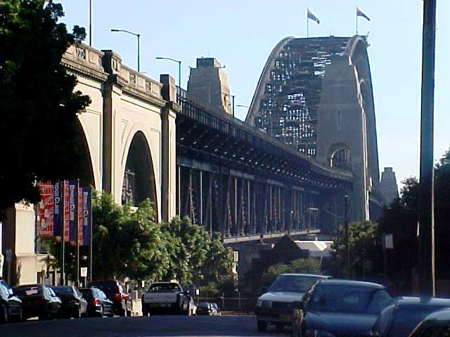 At the bottom of the much loved Sydney Harbour Bridge.