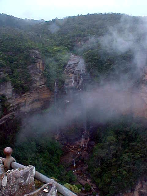 Westwood Falls, where we see how mist is created as the warm water falls down the valley.
