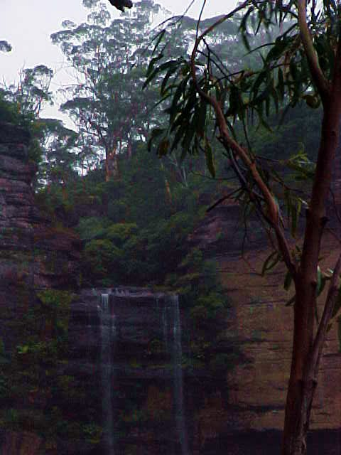 One of the mystifying falls at Katoomba.