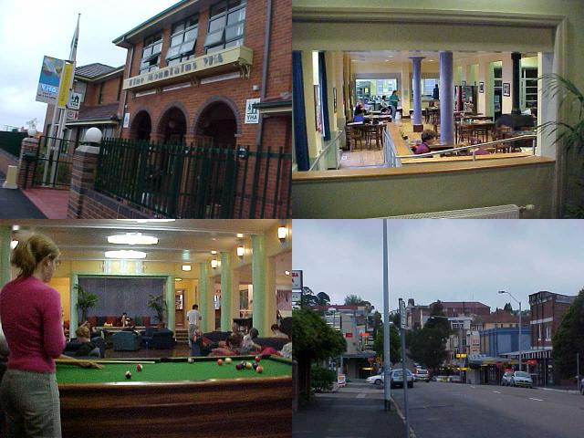 Sights of Katoomba and the Katoomba YHA.