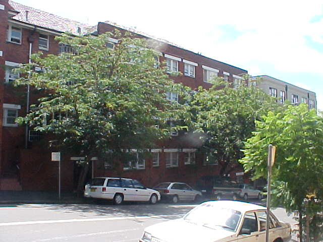 The apartment complex where Stan lives in Kings Cross.