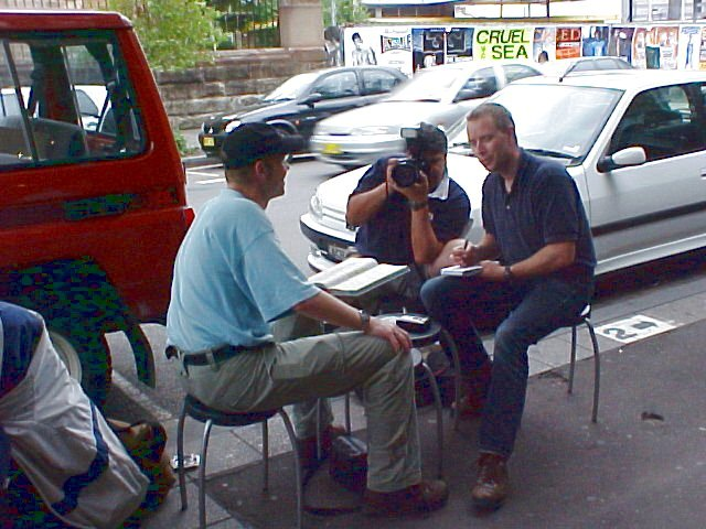 Chatting with the people from Associated Press on my way to Surry Hills.
