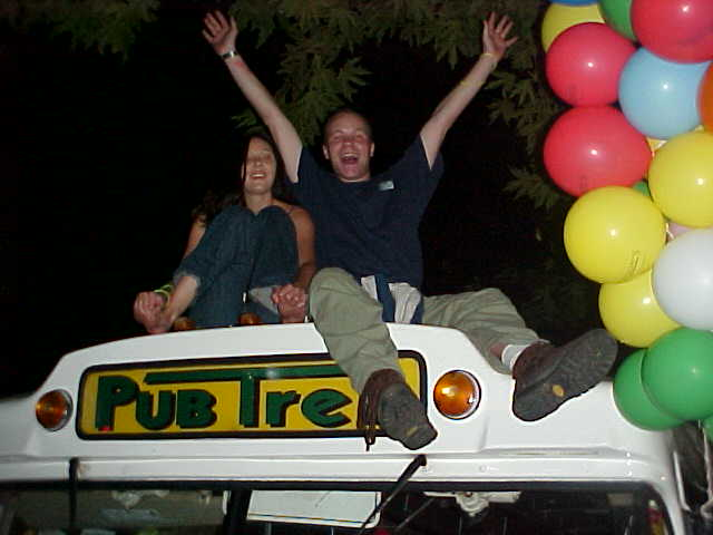 It is always fun to say that I have sat on top of the Pubtrek-bus! Yeehaw!