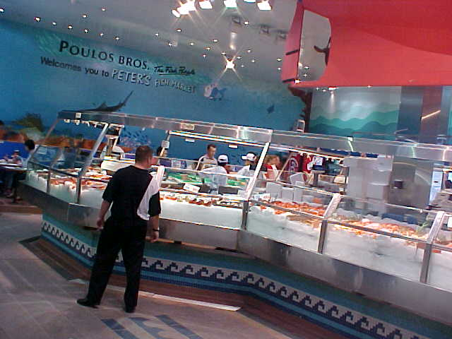 And inside were just halls with all sorts of fish.