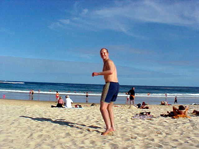One hour later I was standing on Bondi Beach.