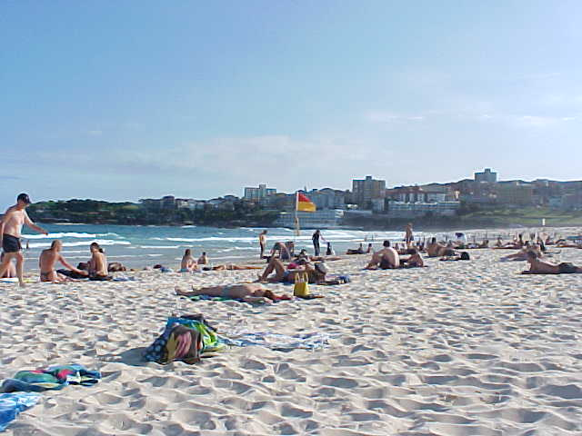 Bondi Beach, famous by travellers all over the world.