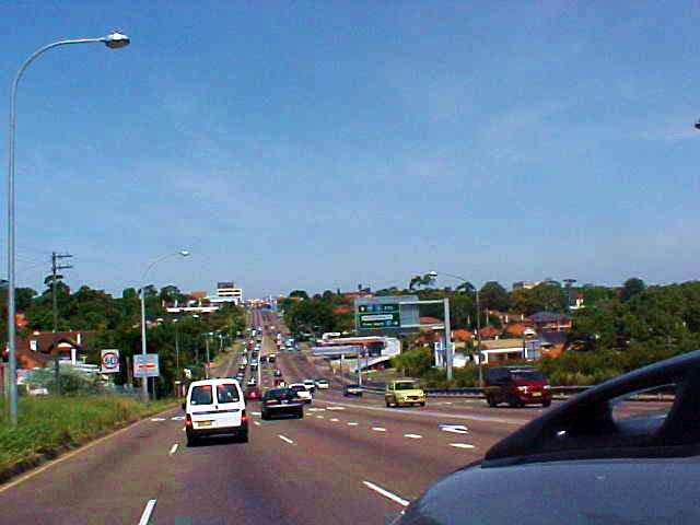 On the road towards Sydney centre.