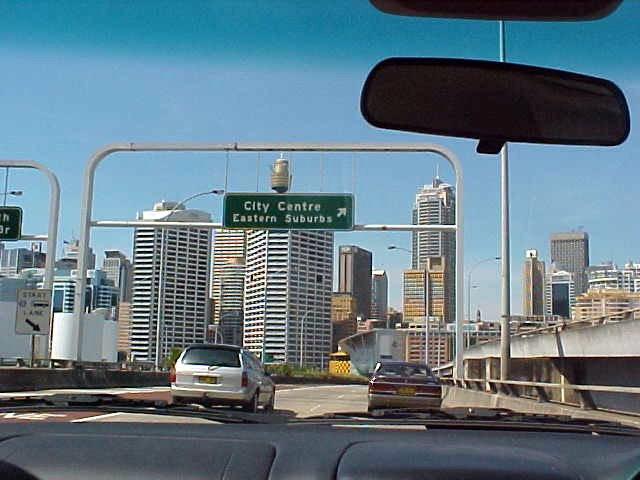 On the road towards Sydney centre (2)