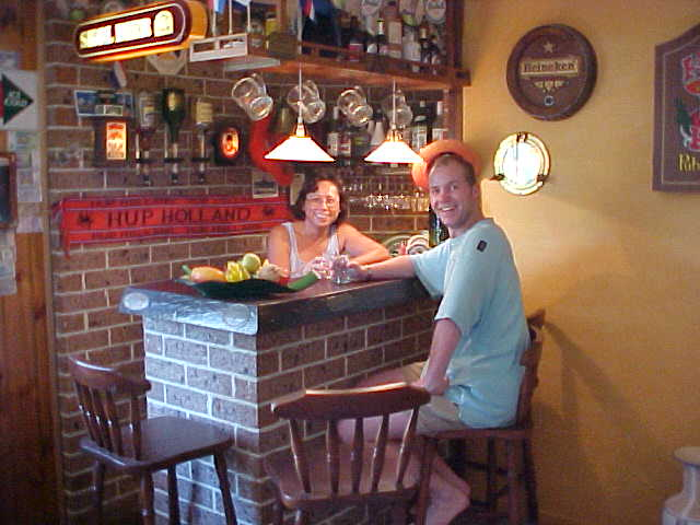 Typical Dutch, just build a bar in your own house and have your wife be the bartender! Great idea, Ron!