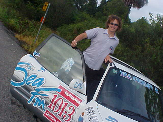 Sidekick Pete was my driver from Jo Nellers home to the Pacific Highway, where he dropped me off, waiting for a lift.