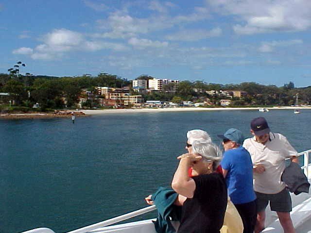 Nelson Bay in the back... look at that blue water...