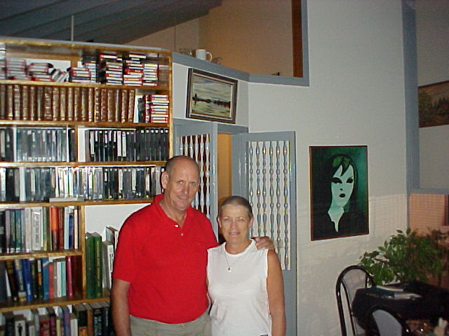 Kevin and Sheryl Fletcher in their spacious house. You cant really get lost here, but it is almost a museum...