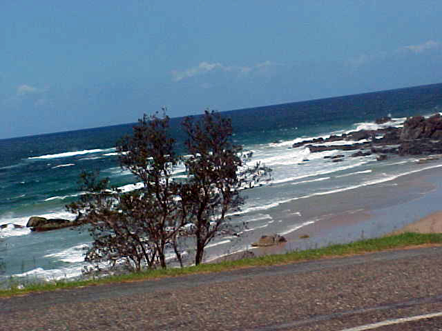 One of the many sandy beaches of Port Macquarie.