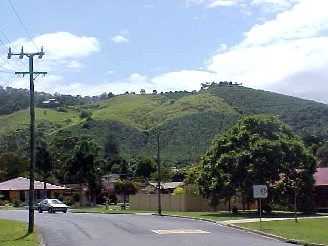 Leaving Coffs Harbour, I saw the surrounding hills of this place, with banana plants everywhere.