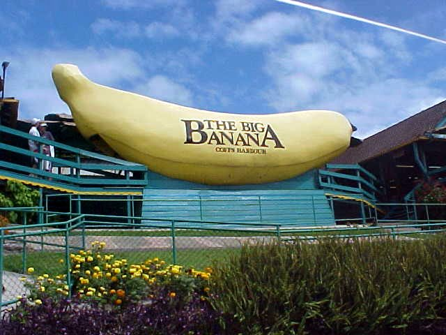 There is was in a flash: the Big Banana.