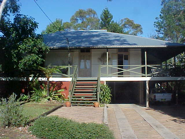 The Queenslander house where the Brown couple lives in.
