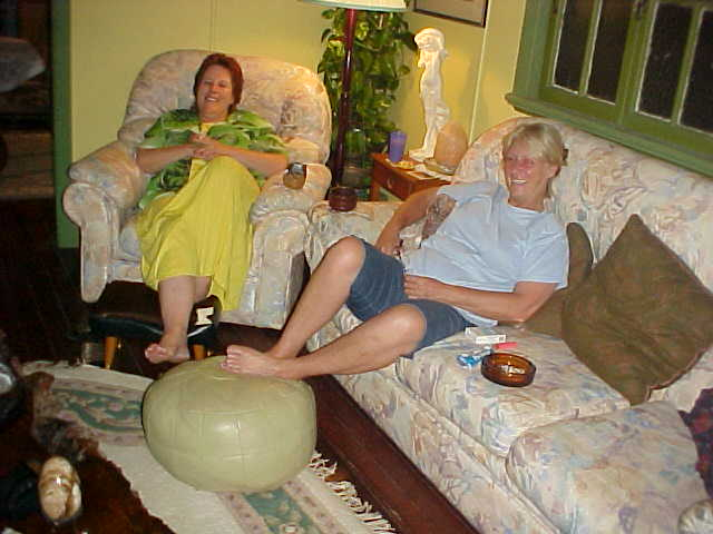 And as the evening continued we moved in the living room and we all became couch potatoes, while watching the Oscar Ceremony on Australian TV.
