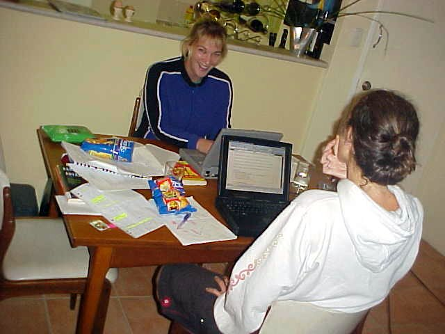 When I arrived Liz and Emma were both busy studying for their Commerce university courses.