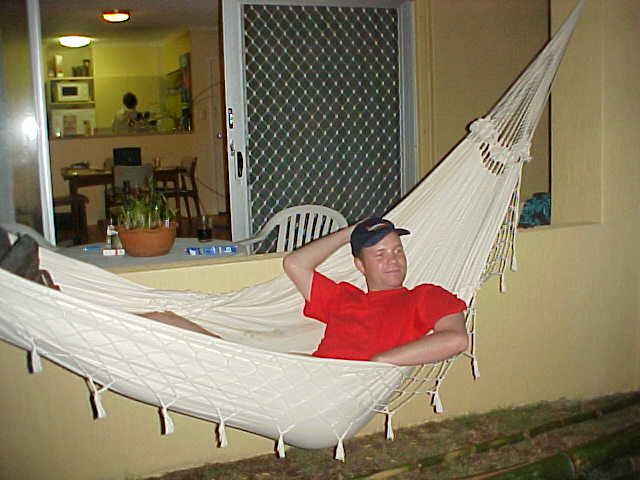 With a view on the Pacific Ocean, just metres away from me, I just loved to chill a bit in this hammock.