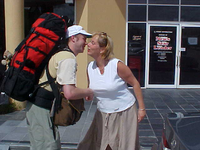 Irene and Stephen dropped me off at the newsdesk of my next hostess and Irene kissed me goodbye.