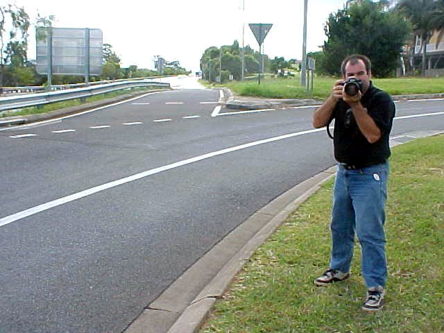 The photographer had to make a photo of me as I was hitchhiking along the road. So there I went again...